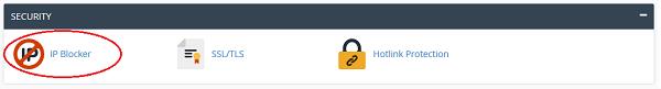 مسدود کردن IP های خاص در سی پنل