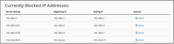 مسدود کردن IP