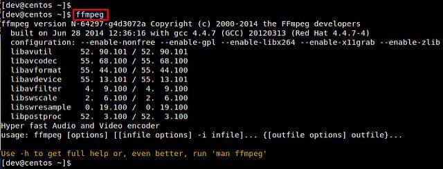 FFmpeg و آموزش کار با FFmpeg در لینوکس Centos