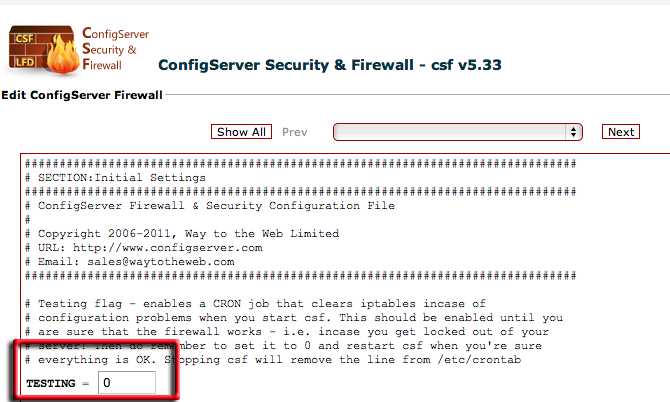 Install CSF on cPanel Server