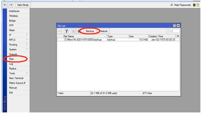 آموزش بکاپ گرفتن از تنظیمات میکروتیک how backup mikrotik