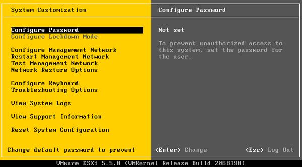 بازیابی ریست کردن رمز عبور Vmware ESXi