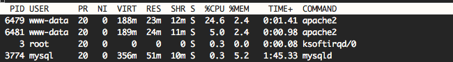 top لینوکس